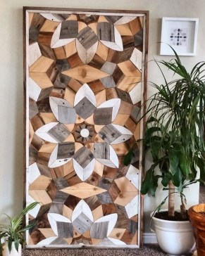 Affordable Geometric Wood Wall Art Design Ideas For Your Inspiration 17