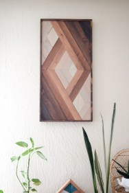 Affordable Geometric Wood Wall Art Design Ideas For Your Inspiration 22