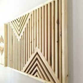 Affordable Geometric Wood Wall Art Design Ideas For Your Inspiration 25