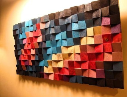 Affordable Geometric Wood Wall Art Design Ideas For Your Inspiration 40