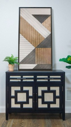Affordable Geometric Wood Wall Art Design Ideas For Your Inspiration 48