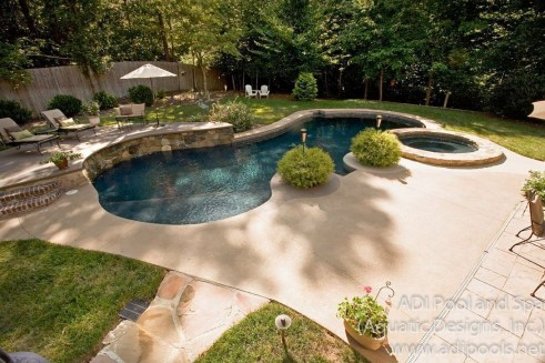 Awesome Backyard Patio Ideas With Beautiful Pool 03