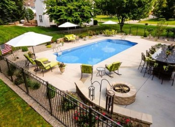 Awesome Backyard Patio Ideas With Beautiful Pool 13