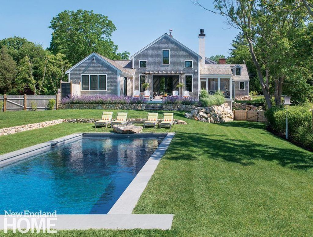 Awesome Backyard Patio Ideas With Beautiful Pool 17