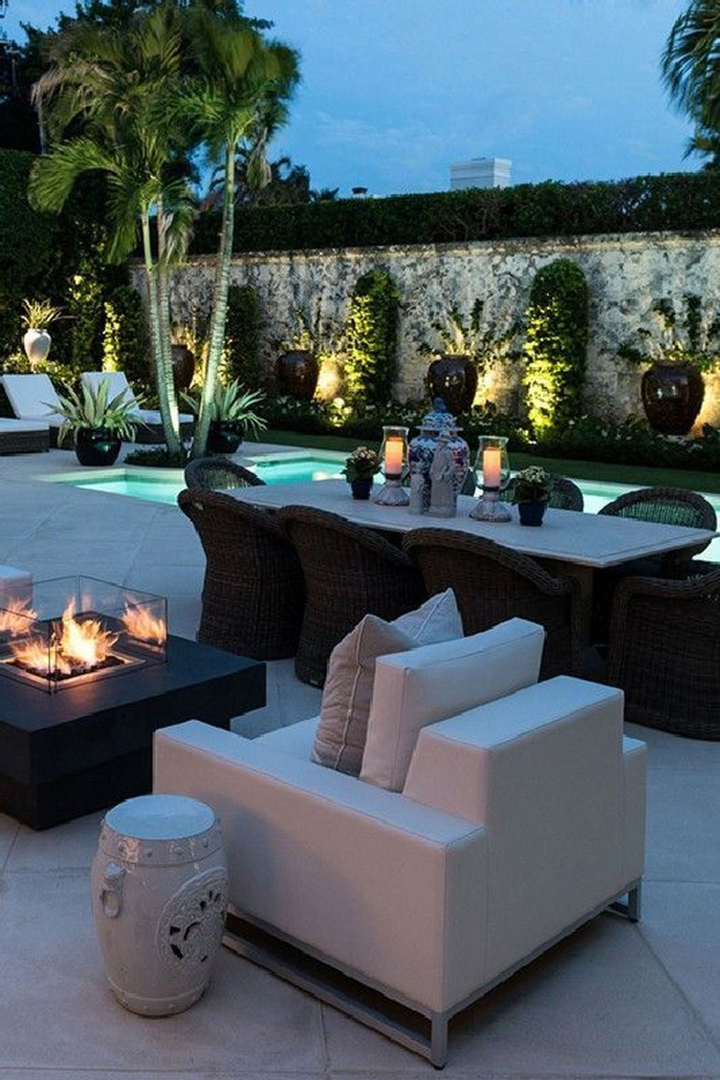 Awesome Backyard Patio Ideas With Beautiful Pool 22