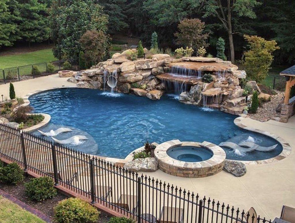Awesome Backyard Patio Ideas With Beautiful Pool 27