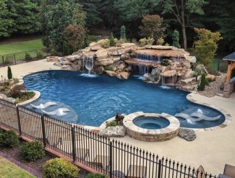 Awesome Backyard Patio Ideas With Beautiful Pool 27