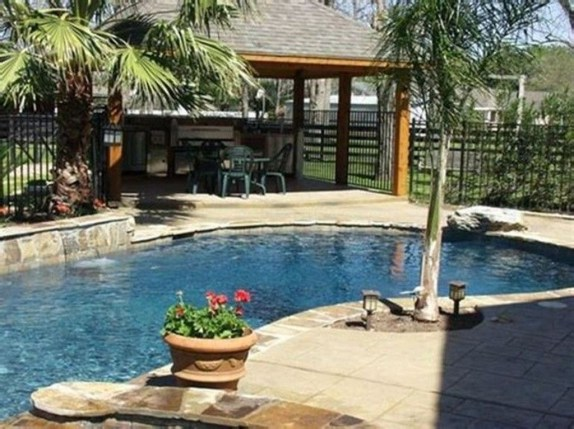 Awesome Backyard Patio Ideas With Beautiful Pool 29