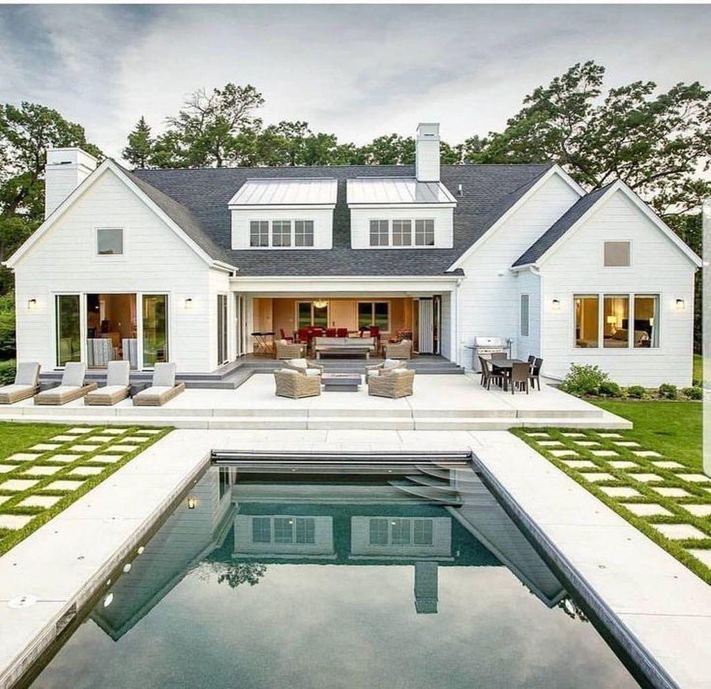 Awesome Backyard Patio Ideas With Beautiful Pool 36