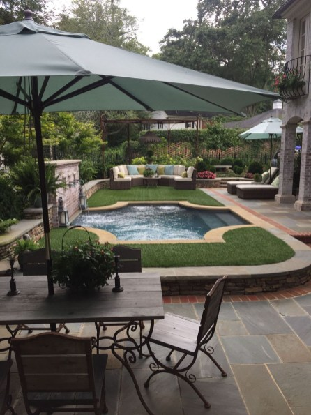 Awesome Backyard Patio Ideas With Beautiful Pool 53