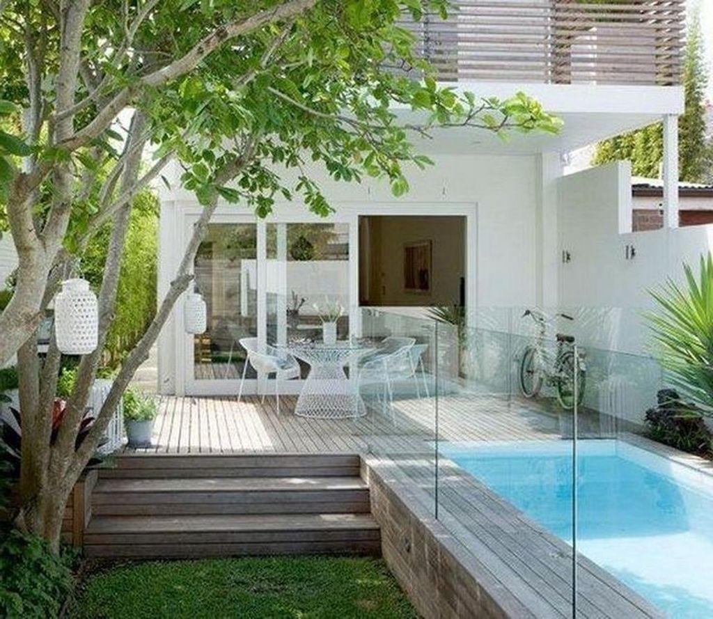 Awesome Backyard Patio Ideas With Beautiful Pool 54