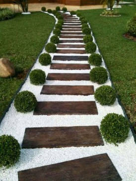 Classy Garden Path And Walkway Design And Remodel Ideas 45