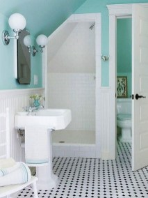 Inspiring Bathroom Decor Ideas With Turquoise Color To Consider 29