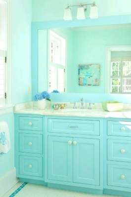 Inspiring Bathroom Decor Ideas With Turquoise Color To Consider 36