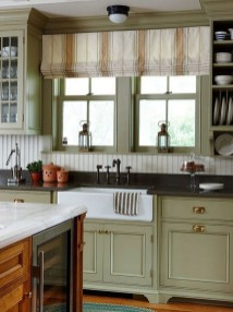 Magnificient Kitchen Cabinet Curtain Ideas To Look Stunning 04