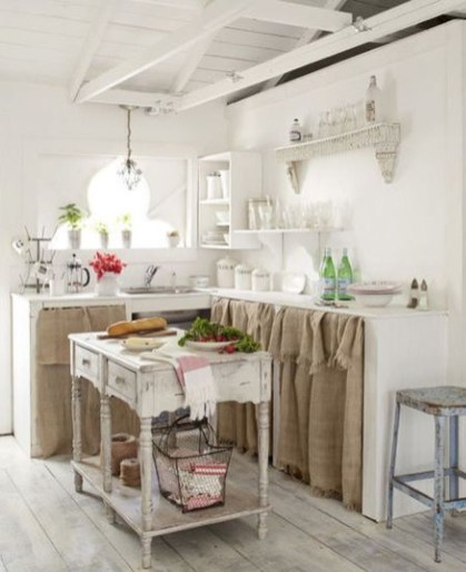 Magnificient Kitchen Cabinet Curtain Ideas To Look Stunning 16