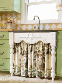Magnificient Kitchen Cabinet Curtain Ideas To Look Stunning 39