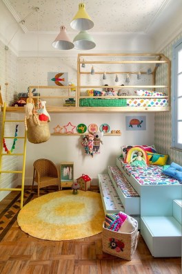 Modern Colorful Bedroom Décor Ideas For Kids 24