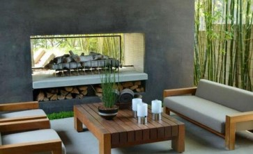 Pretty Seating Area Ideas With Outside Fireplace 39