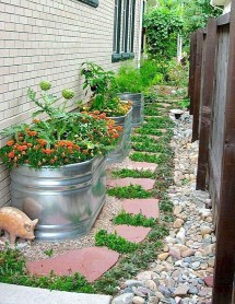 Rustic Side Yard Garden Design And Remodel Ideas 10