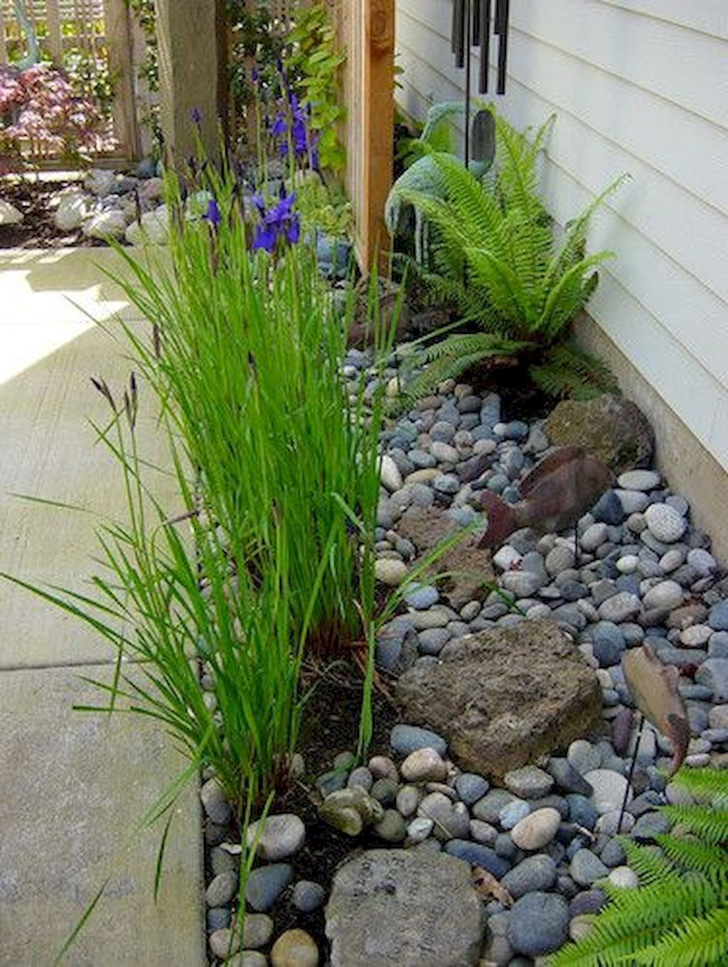 Rustic Side Yard Garden Design And Remodel Ideas 25