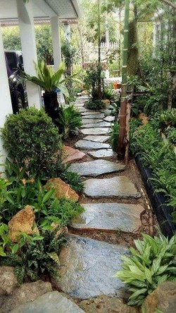 Rustic Side Yard Garden Design And Remodel Ideas 43