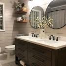 Adorable Farmhouse Bathroom Decor Ideas That Looks Cool 13