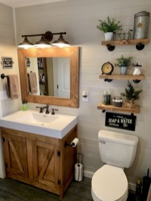 Adorable Farmhouse Bathroom Decor Ideas That Looks Cool 16