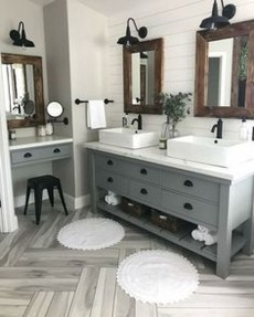 Adorable Farmhouse Bathroom Decor Ideas That Looks Cool 18