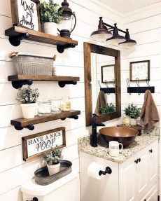 Adorable Farmhouse Bathroom Decor Ideas That Looks Cool 19