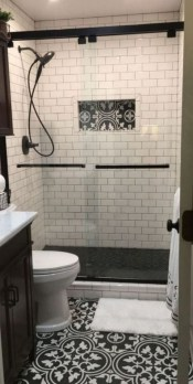 Astonishing Farmhouse Shower Tile Decor Ideas To Try 13