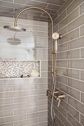 Astonishing Farmhouse Shower Tile Decor Ideas To Try 16