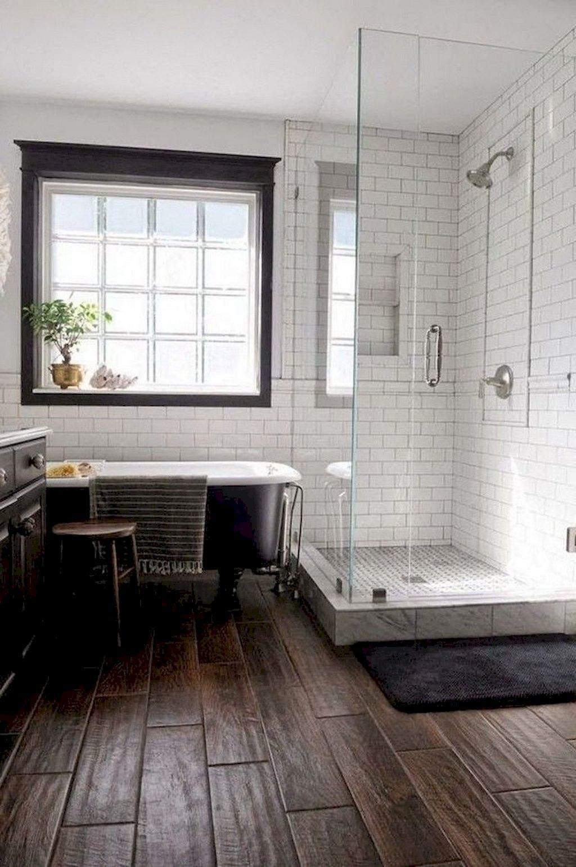 Astonishing Farmhouse Shower Tile Decor Ideas To Try 24