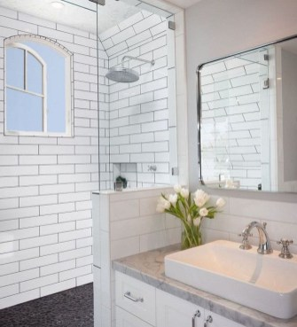 Astonishing Farmhouse Shower Tile Decor Ideas To Try 26