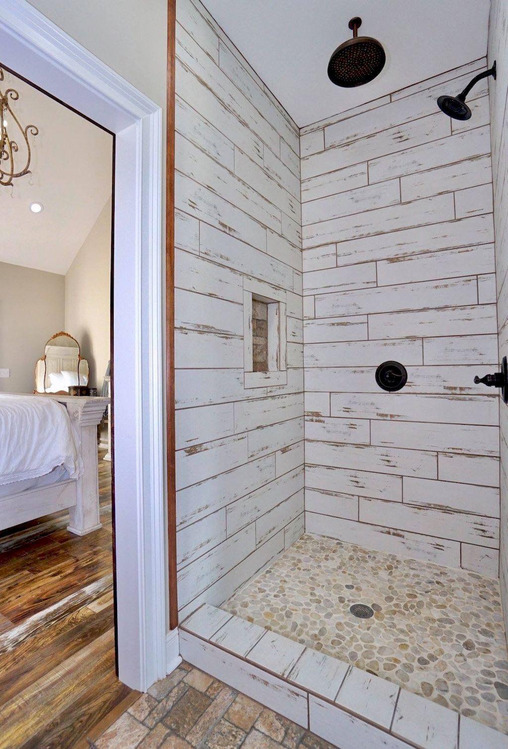 Astonishing Farmhouse Shower Tile Decor Ideas To Try 27