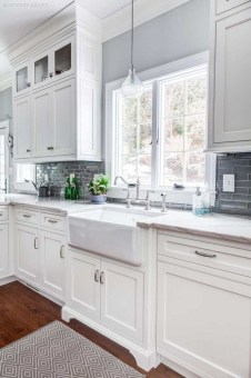 Comfy White Kitchen Cabinets Design Ideas To Try 27