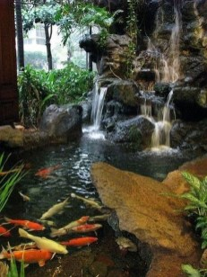 Cool Fish Pond Garden Landscaping Ideas For Backyard 33