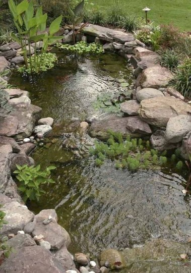 Cool Fish Pond Garden Landscaping Ideas For Backyard 34