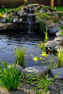 Cool Fish Pond Garden Landscaping Ideas For Backyard 41