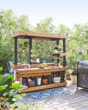 Cozy Outdoor Kitchen Decor Ideas For You 26