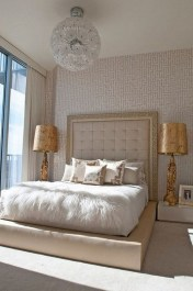 Fancy Champagne Bedroom Design Ideas To Try 23