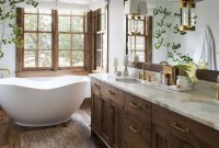 Inspiring Small Bathroom Design Ideas With Wood Decor To Inspire 17