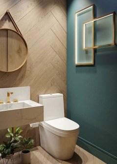 Inspiring Small Bathroom Design Ideas With Wood Decor To Inspire 24