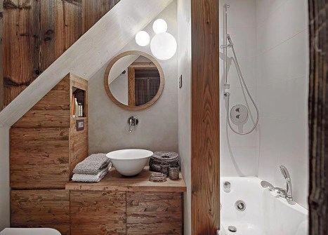 Inspiring Small Bathroom Design Ideas With Wood Decor To Inspire 26