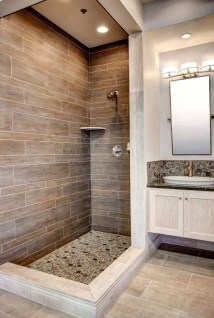 Inspiring Small Bathroom Design Ideas With Wood Decor To Inspire 31