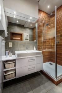 Inspiring Small Bathroom Design Ideas With Wood Decor To Inspire 46