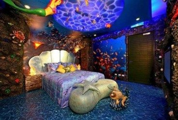 Magnificient Mermaid Themes Ideas For Children Kids Room 32
