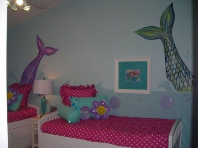 Magnificient Mermaid Themes Ideas For Children Kids Room 44