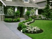 Modern Flower Beds Rocks Ideas For Front House To Try 22