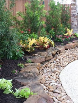 Modern Flower Beds Rocks Ideas For Front House To Try 25